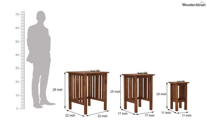 Ayotte Nest of Tables (Teak Finish)-8