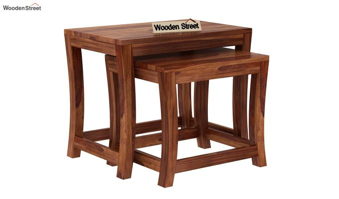 Boston Ivy Nest Of Tables (Teak Finish)-2