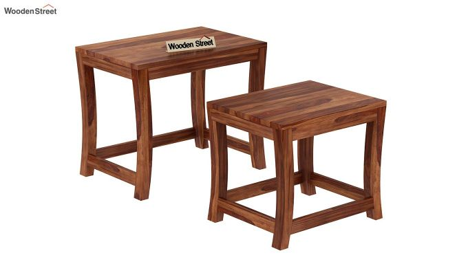 Boston Ivy Nest Of Tables (Teak Finish)-4