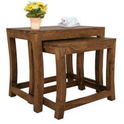 Boston Ivy Nest Of Tables (Teak Finish)