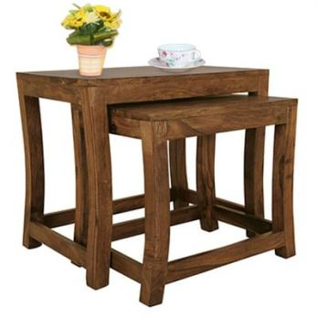 Solid wood Nest of Tables online in Bangalore, Jaipur India