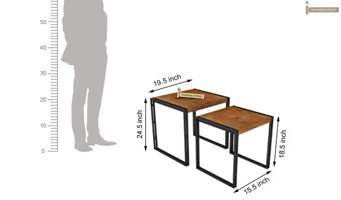 Bron Nest Of Tables (Teak Finish)-9