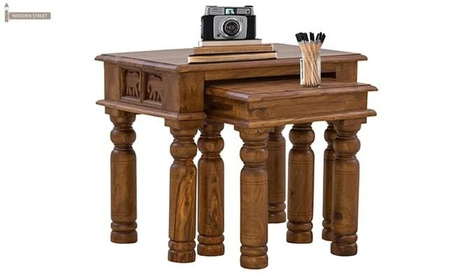 Clematis Nest Of Tables (Teak Finish)-1