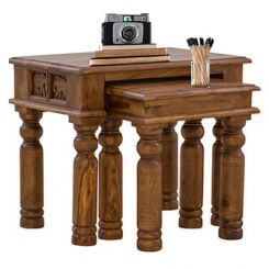 Clematis Nest Of Tables (Teak Finish)