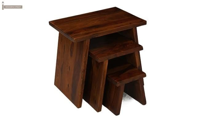 Flux Nest Of Tables (Mahogany Finish)-3