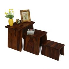 Flux Nest Of Tables (Mahogany Finish)