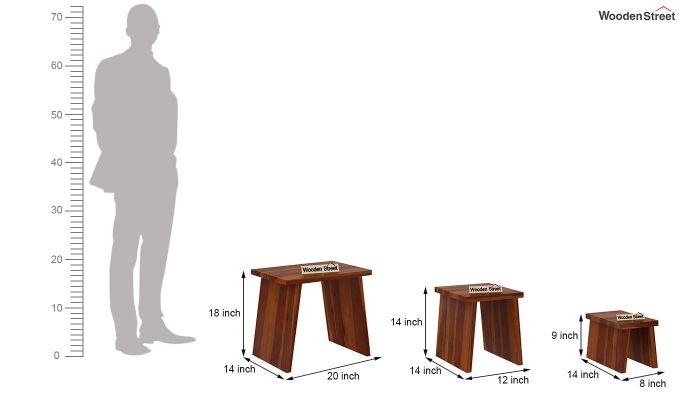 Flux Nest Of Tables (Honey Finish)-8