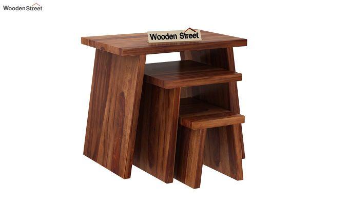 Flux Nest Of Tables (Teak Finish)-2