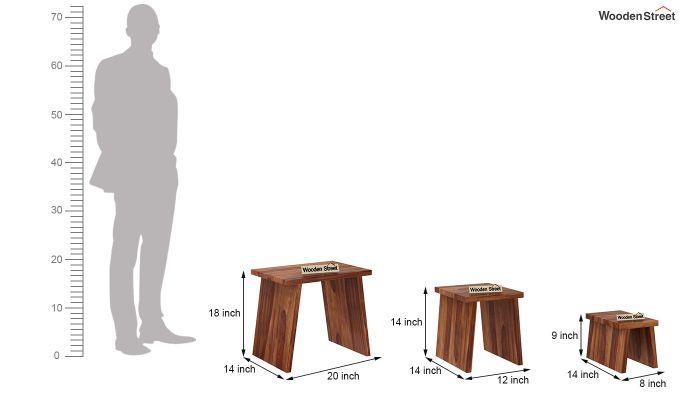 Flux Nest Of Tables (Teak Finish)-8