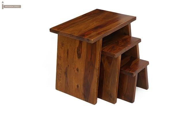 Flux Nest Of Tables (Teak Finish)-4