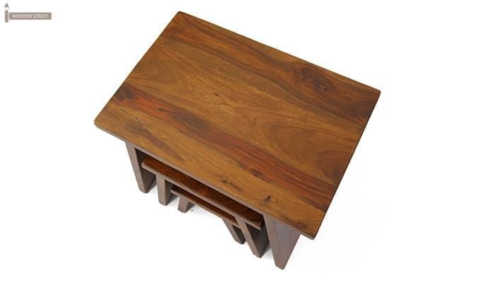 Flux Nest Of Tables (Teak Finish)-5
