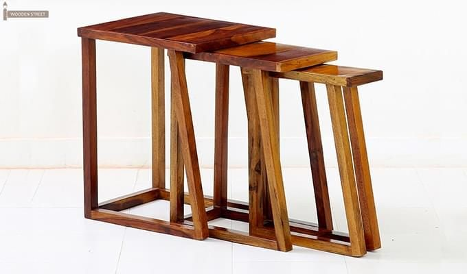 Heslov Nest of Tables (Teak Finish)-1