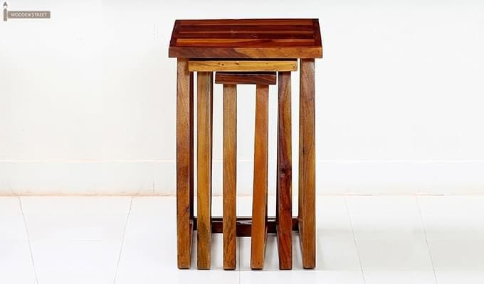Heslov Nest of Tables (Teak Finish)-3