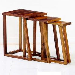 Heslov Nest of Tables (Teak Finish)