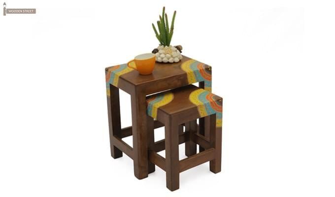 Kline Nest Of Tables (Teak Finish)-1