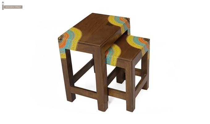 Kline Nest Of Tables (Teak Finish)-2