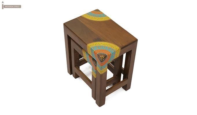 Kline Nest Of Tables (Teak Finish)-3