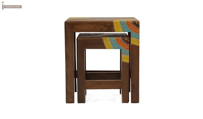 Kline Nest Of Tables (Teak Finish)-5