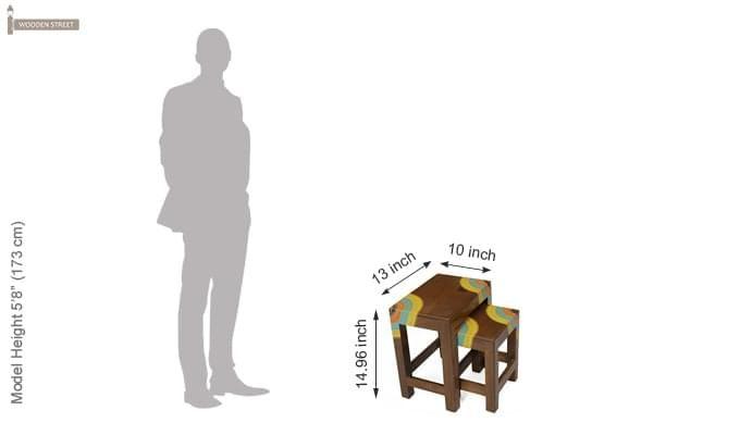 Kline Nest Of Tables (Teak Finish)-6