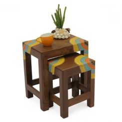 Kline Nest Of Tables (Teak Finish)