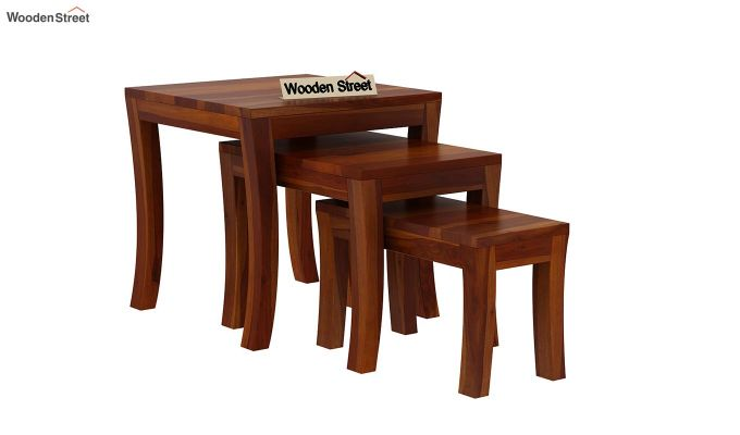Lemna Nest Of Tables (Honey Finish)-2