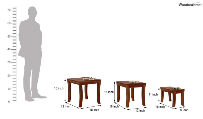 Lemna Nest Of Tables (Honey Finish)-8