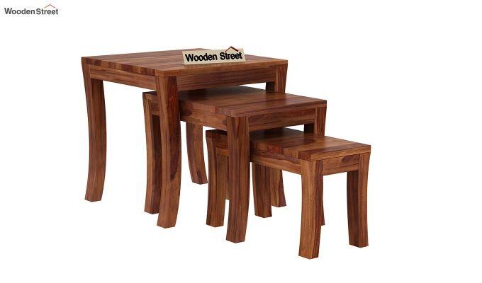 Lemna Nest Of Tables (Teak Finish)-2