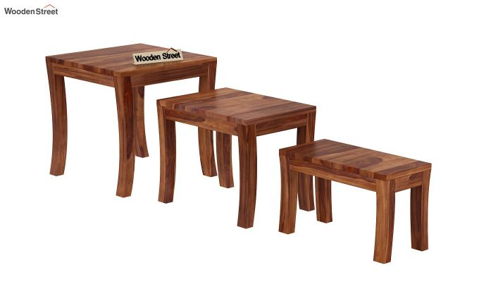 Lemna Nest Of Tables (Teak Finish)-4