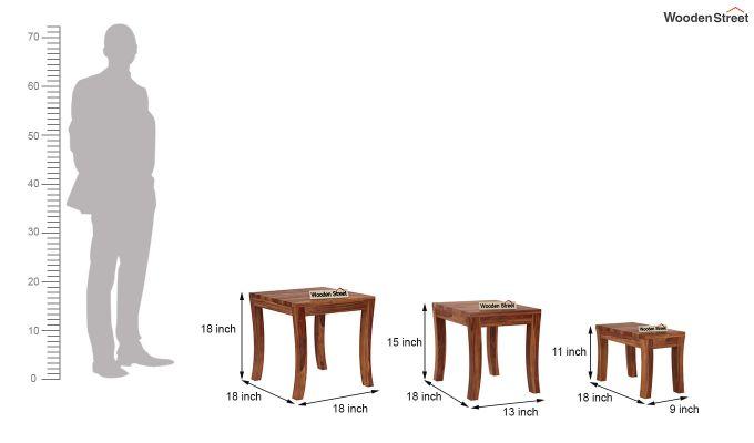 Lemna Nest Of Tables (Teak Finish)-8
