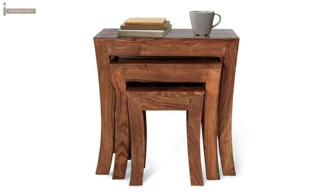 Lemna Nest Of Tables (Teak Finish)-1