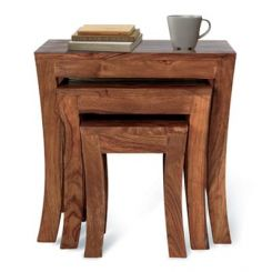Lemna Nest Of Tables (Teak Finish)