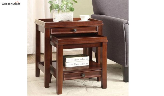 Lohana Nest of Tables (Honey Finish)-1