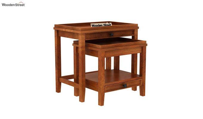 Lohana Nest of Tables (Honey Finish)-2