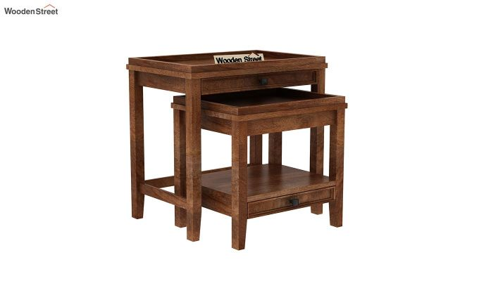 Lohana Nest of Tables (Teak Finish)-2