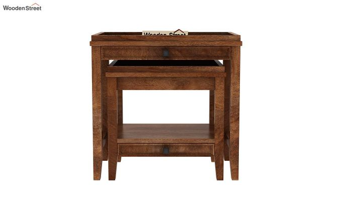 Lohana Nest of Tables (Teak Finish)-3