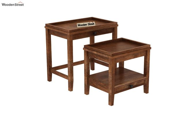 Lohana Nest of Tables (Teak Finish)-5