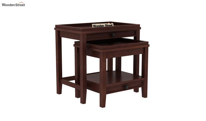 Lohana Nest of Tables (Walnut Finish)-2