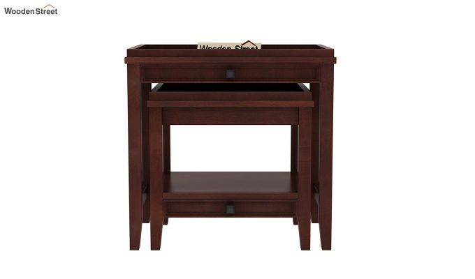 Lohana Nest of Tables (Walnut Finish)-3
