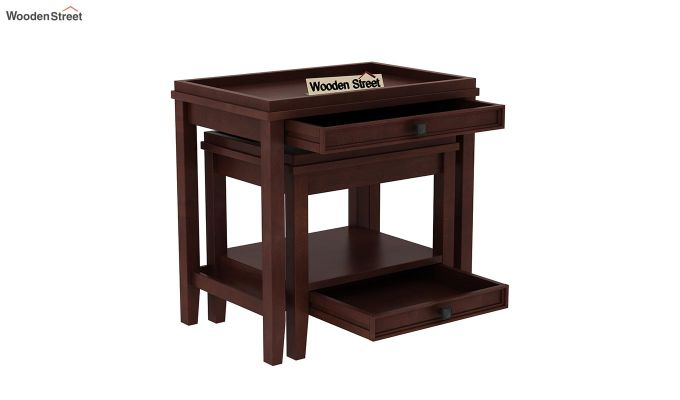 Lohana Nest of Tables (Walnut Finish)-4