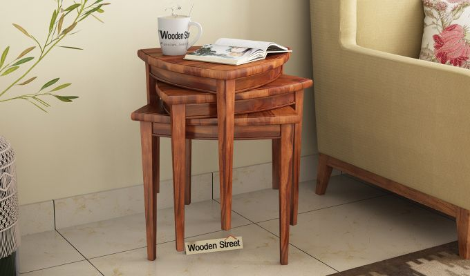 Mason Nest of Tables (Honey Finish)-1
