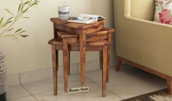 Mason Nest of Tables (Teak Finish)-1