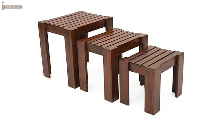 Massimo Nest Of Tables (Teak Finish)-2