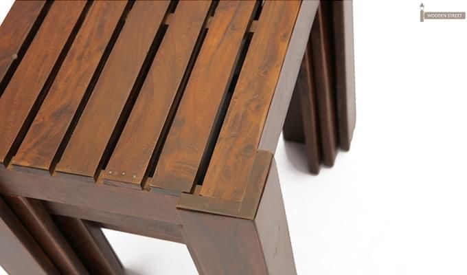 Massimo Nest Of Tables (Teak Finish)-5