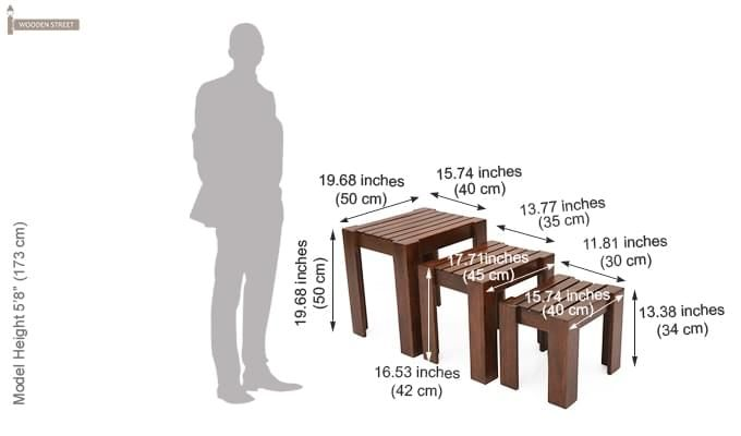 Massimo Nest Of Tables (Teak Finish)-6