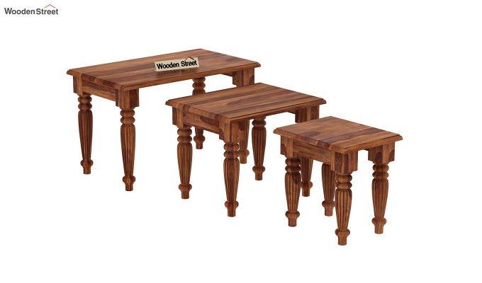 Mccoy Nest Of Tables (Teak Finish)-4