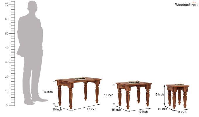 Mccoy Nest Of Tables (Teak Finish)-8