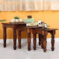 Mccoy Nest Of Tables (Teak Finish)