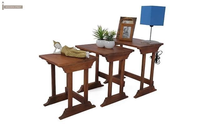 Ricky Nest Of Tables (Teak Finish)-1