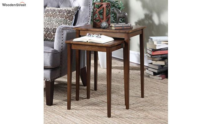 Shelagh Nest of Tables (Mahogany Finish)-1