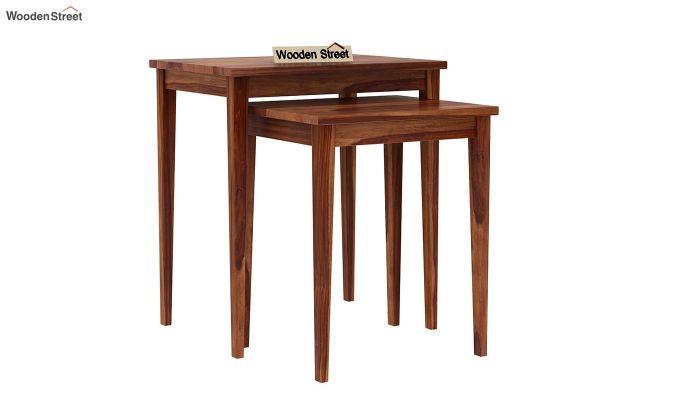 Shelagh Nest of Tables (Teak Finish)-2